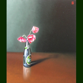 Blomster jeg har plukket – i en øl som jeg har drukket