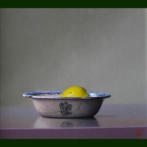 Citron i kinesisk skål